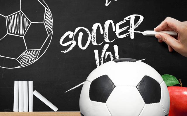 soccer betting 101 apple chalkboard soccer ball illustration