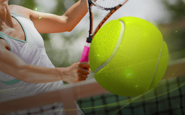 how to bet on tennis header image tennis ball net serve
