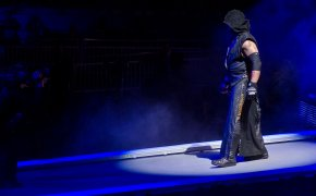 The Undertaker prepares to enter the ring