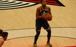 Donovan Mitchell at the FT line