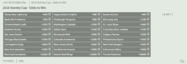 Stanley Cup Futures Betting