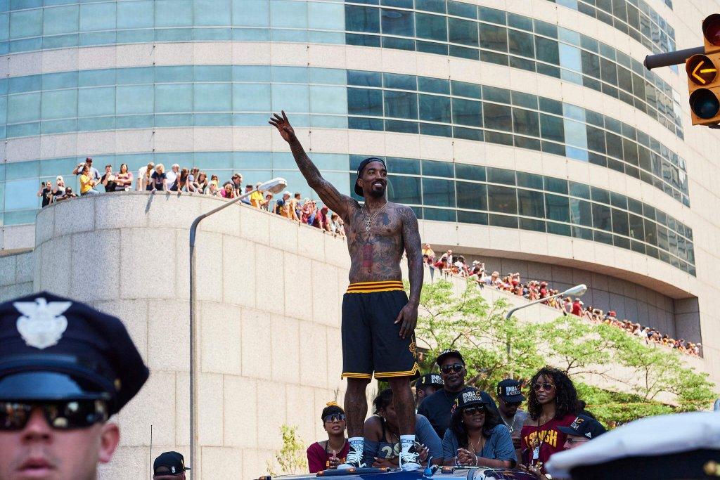 JR Smith at championship parade