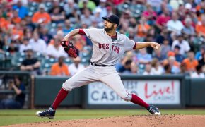 David Price pitching for the Boston Red Sox