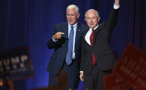 Sessions during happier times, back before the Russia investigation.