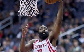 James Harden going in for a layup