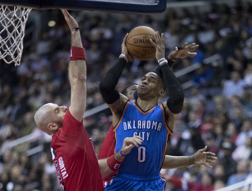 Westbrook elevating into contact