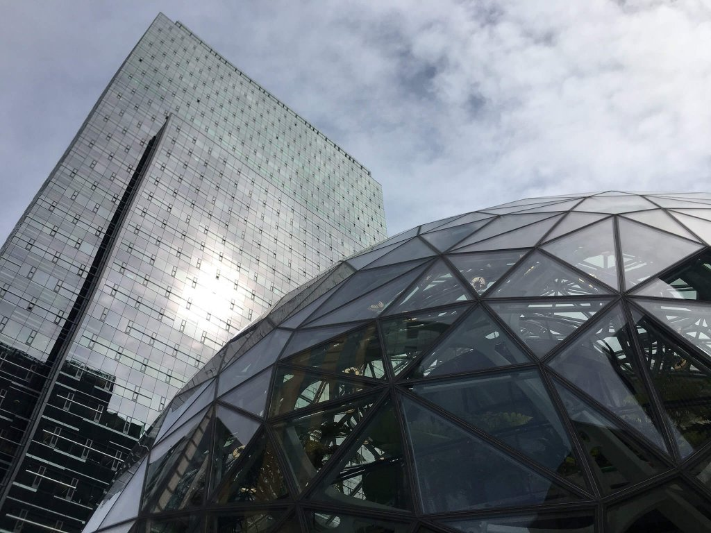 Slab and Sphere at Amazon HQ, Seattle