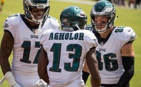 Alshon Jeffery, Nelson Agholor, Zach Ertz Eagles receivers