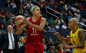 Elena Delle Donne with the basketball