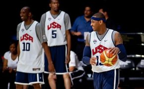 Carmelo Anthony shoots around with Team USA