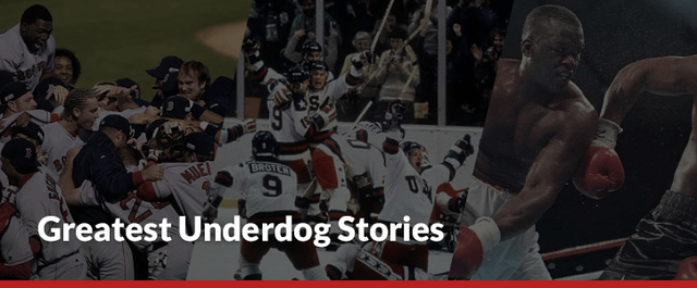 greatest underdog stores hockey baseball boxing
