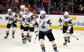 The Vegas Golden Knights after a win