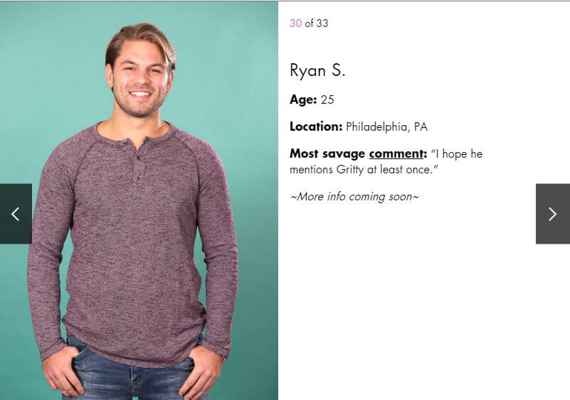 Bachelorette contestant Ryan S