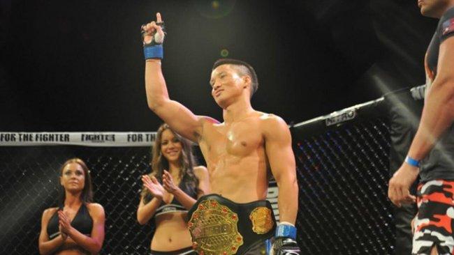 Ben Nguyen winning the Nitro Bantamweight Championship