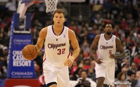 Blake Griffin brings the ball up the court