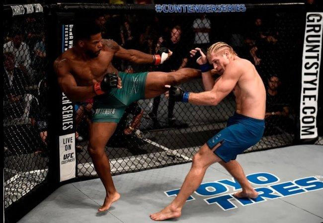 Charles Byrd kicking Randall Wallace.