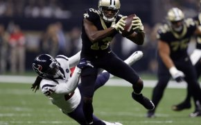 New Orleans Saints wide receiver Michael Thomas making a catch against the Texans