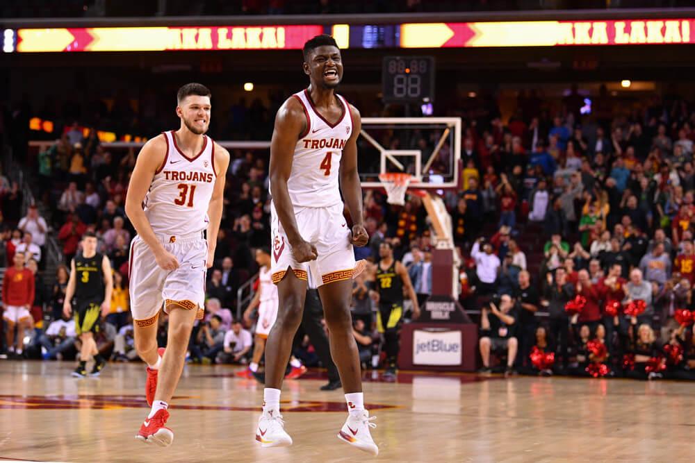USC's Chimezie Metu celebrating