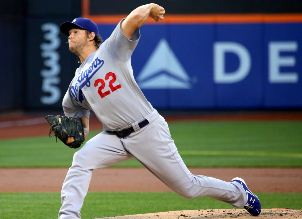 Clayton Kershaw pitching for LAD