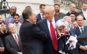 Bill Belichick Donald Trump shaking hands