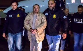 El Chapo being extradited to the US to face charges.
