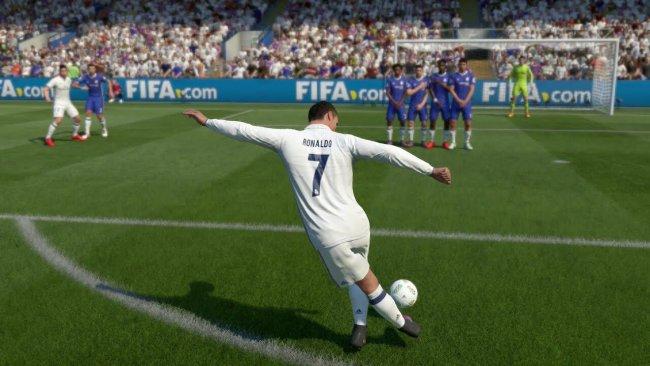 Ronaldo in FIFA 18 Video Game