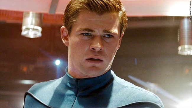 Chris Hemsworth as Captain George Kirk in Star Trek
