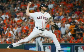 Gerrit Cole pitching Astros