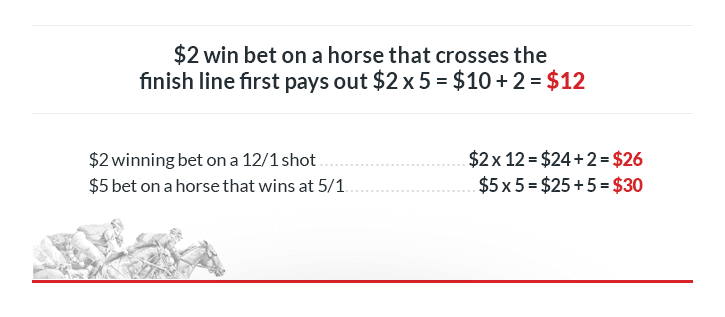 $2 win bet on horse that crosses the finish line