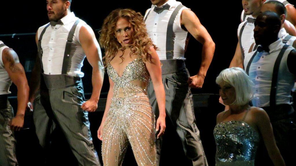 Jennifer Lopez performing in Brazil