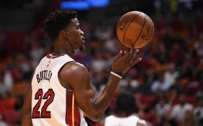 Jimmy Butler spins basketball on his finger