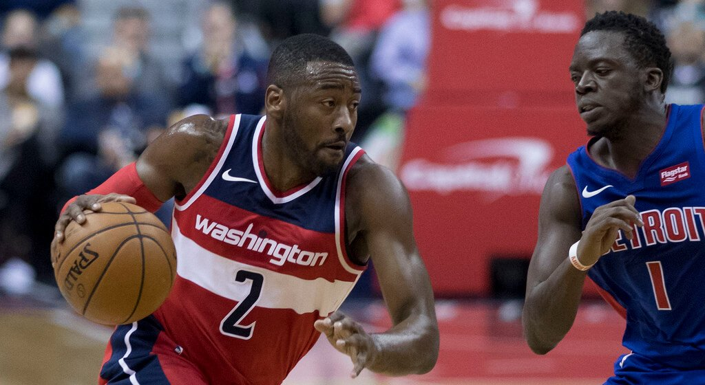 John Wall with the Washington Wizards
