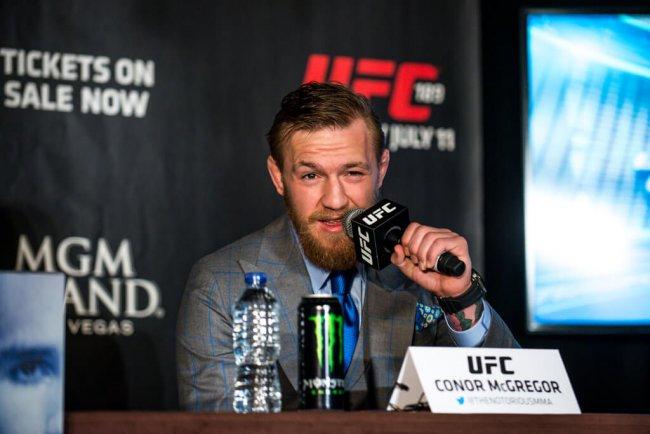 Conor McGregor during UFC 189 world tour.