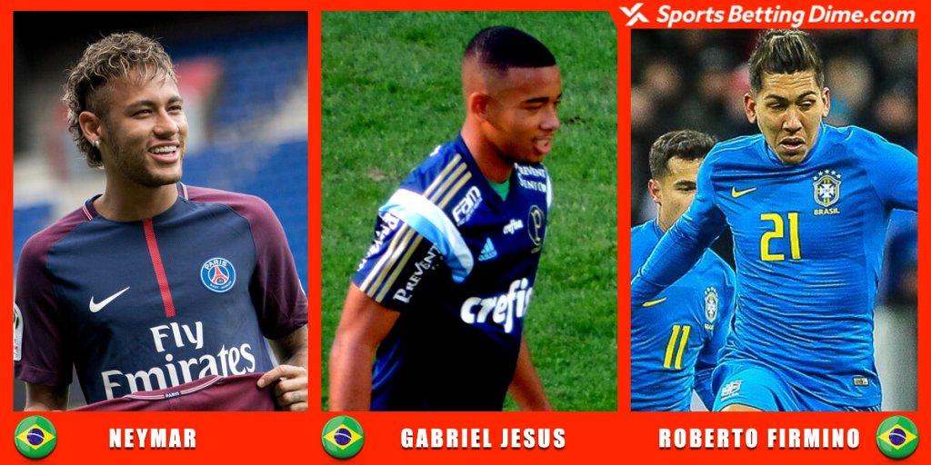Neymar, Gabriel Jesus, and Roberto Firmino.