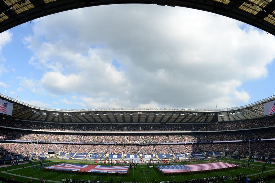 NFL game at Twickenham Stadium in London, England
