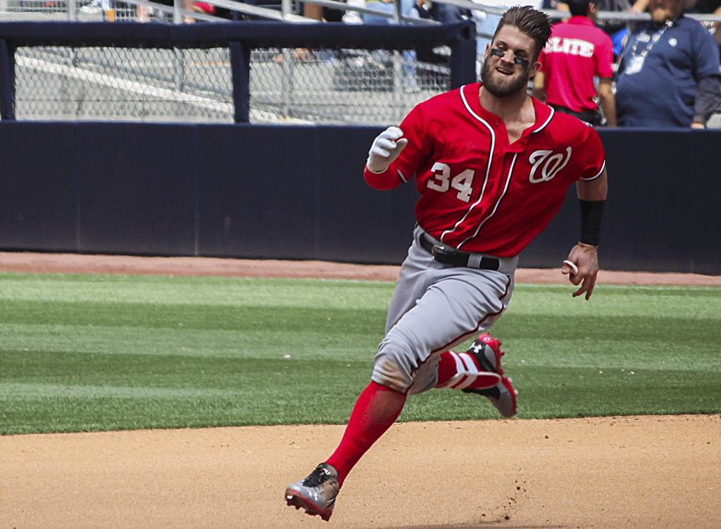 Washington center fielder Bryce Harper