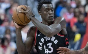 Pascal Siakam with the basketball