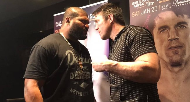 Chael Sonnen and Rampage Jackson face off ahead of Bellator 192
