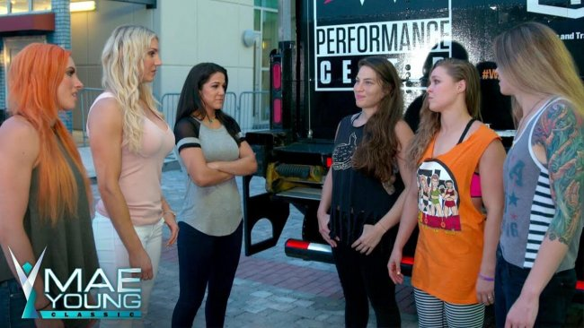 4 Horsewomen (MMA) meet 4 Horsewomen (WWE) at Mae Young Classic