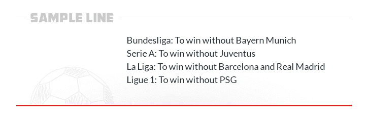 sample line win without bundesliga serie a la liga ligue 1