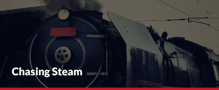 chasing steam header image train