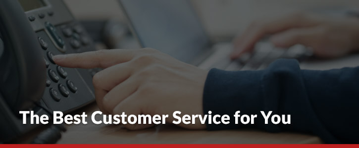 The Best Customer Service for You phone dialing header image
