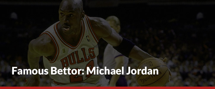 Michael Jordan Sports Betting Chicago Bulls White Jersey