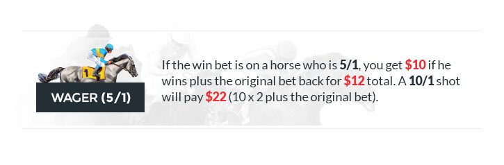 win bet slip image 5/1 odds illustrated image w/ text