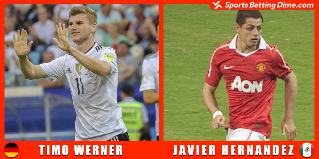 Timo Werner and Javier Hernández.