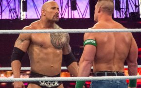 The Rock face to face with John Cena