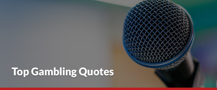 Top Gambling Quotes Header Image Microphone