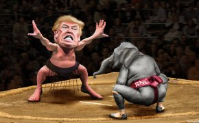 Donald Trump wrestles with the RNC.