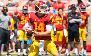 Sam Darnold with the USC Trojans