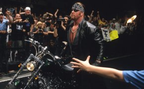 Undertaker returns to the WWE as the American Badass at Judgement Day in 2000